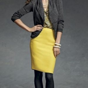 CAbi Mustard Yellow Pencil Skirt Size 16 Style 996